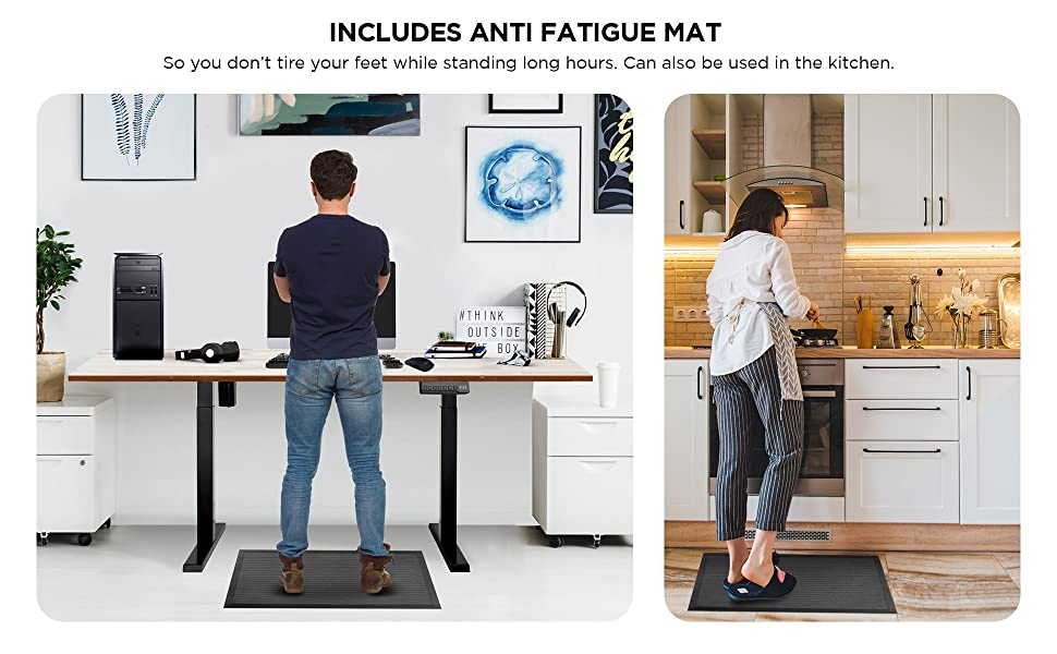 Anti fatigue mat reduces stress during long work hours and also during cooking