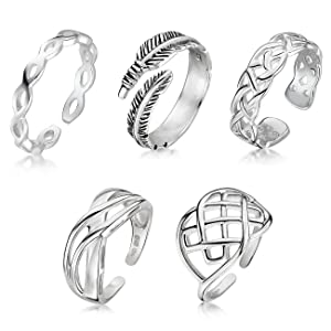 Amberta 925 Sterling Silver - Ring for Women - Celtic Knot Design - Eternity Band