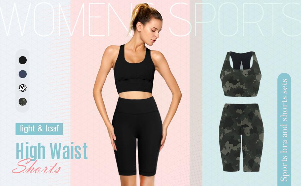 light and leaf biker shorts for women
