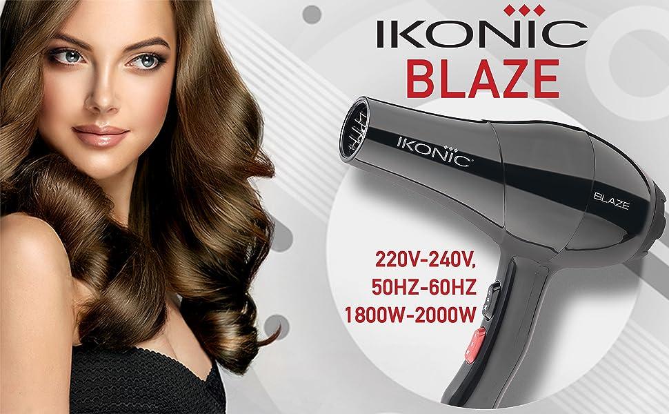 Ikonic Blaze Hair Dryer (Black)