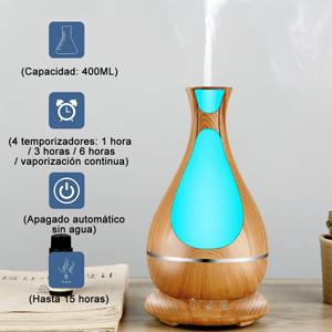 Humidificador Ultrasónico, 400ml Difusor de Aromaterapia, Difusor ...