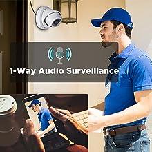 Surveillance CCTV 8MP Dome IP Audio Cameras