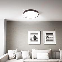 MRCOOL LED Deckenleuchte Braun 24W 3000K-6500K Deckenbeleuchtung f/ür K/üche Balkon Korridor B/üro Esszimmer Bad 24W Dimmbar Deckenlampe