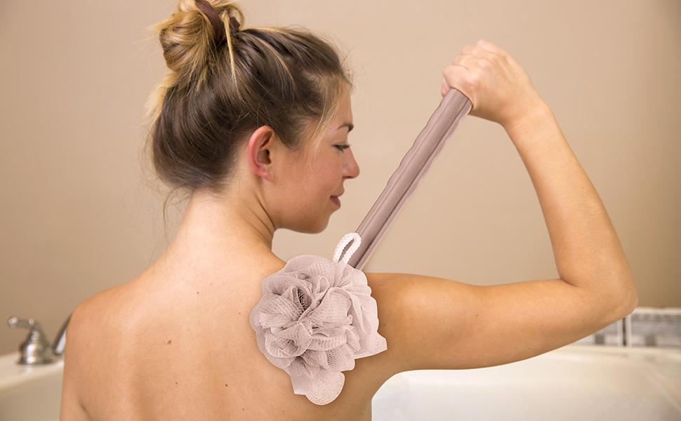 shower back brush with long handle for men bath back brush with long handle back scrub brush