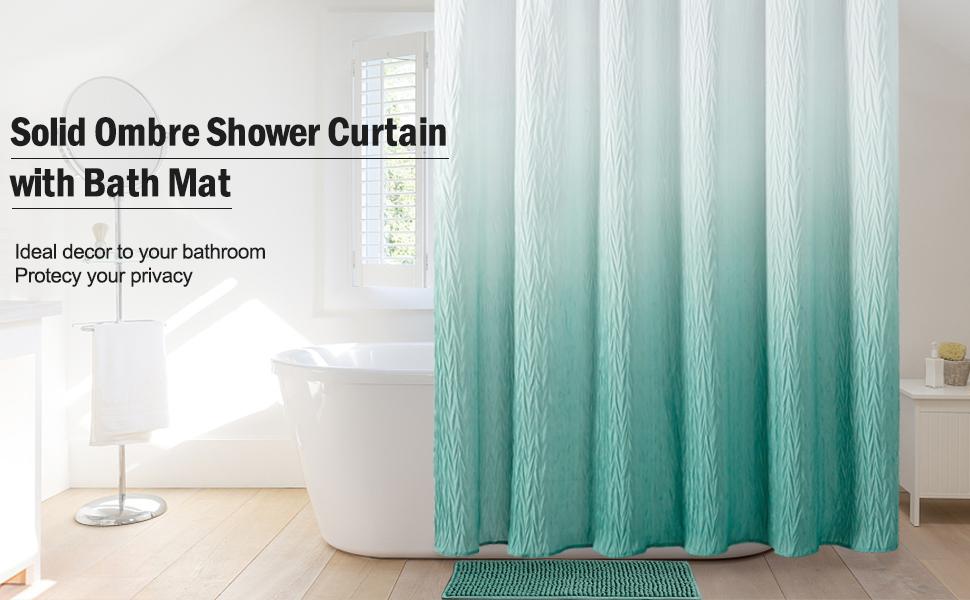 reeple ombre shower curtain set