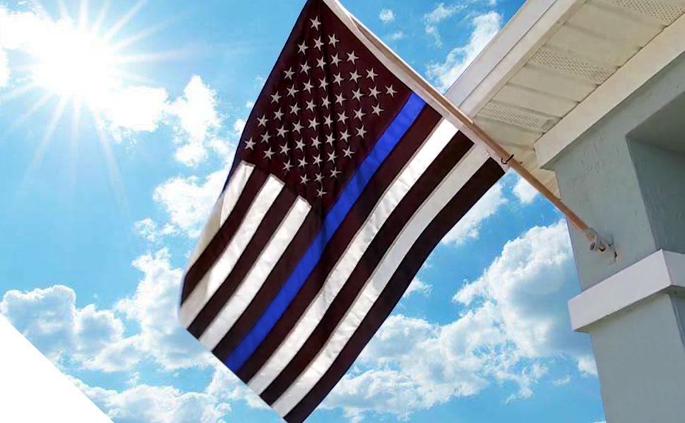 Thin Blue Line USA Flag