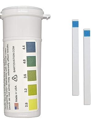 wine kombucha test strip pre cut plastic reagent fermentation