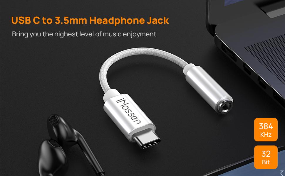 USB C to 3.5mm Headphone Jack Adapter
