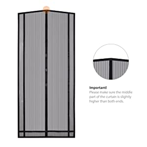 Sekey 230x160 cm Cortina Mosquitera magnética para la protección contra Insectos, el mosquitera magnético Ideal para Puerta de balcón, Puerta de terraza (se Puede ...