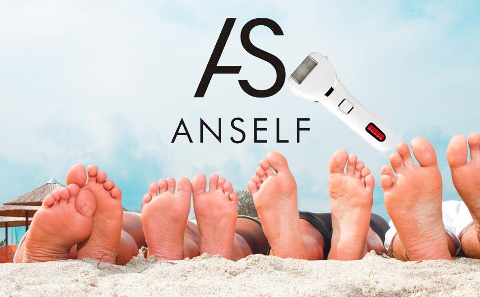 Anself Callus de pie eléctrico con 3 cabezales de rodillo extractores Dispositivo de pedicura recargable Lima de pie electrónica Herramientas de ...