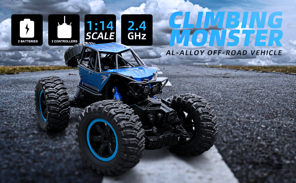 Blue RC Car on the Road