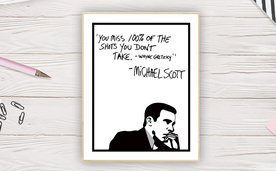 Wayne Gretzky Inspirational Wall Art Print Motivational Quote Poster Decor Gift