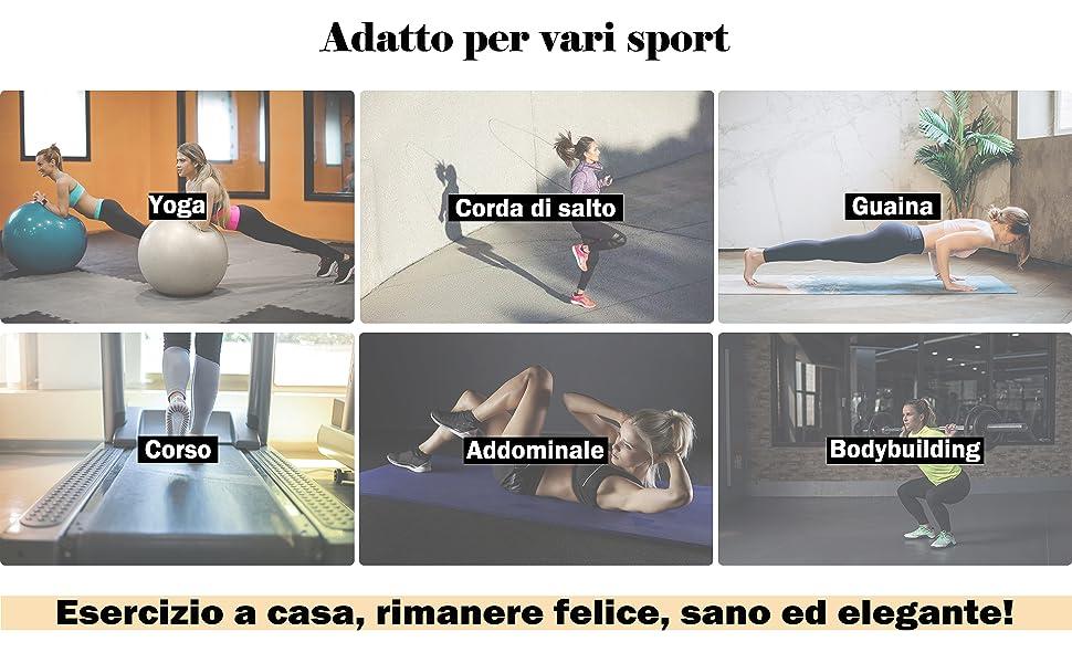 Dettaglio a contrasto sulla gamba Perfetti per qualsiasi tipo di attività fisica