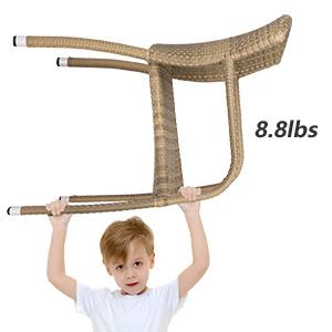 Woven Rattan Arm Chair Indoor for Garden/Backyard/Bistro/Cafe