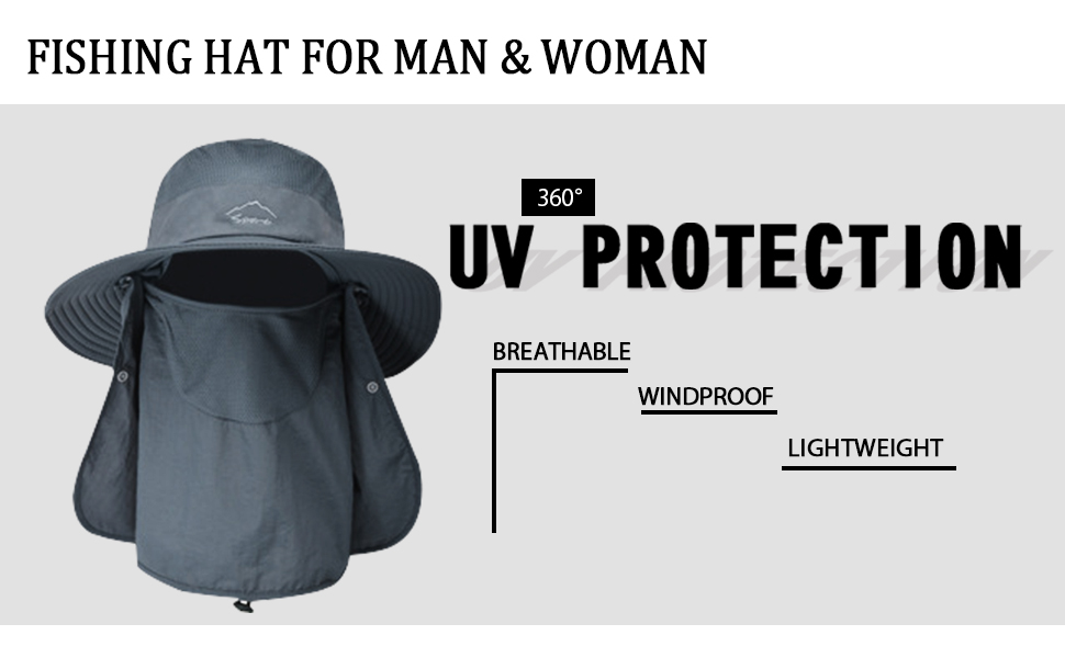 sun hats Outdoor UV Sun Protection Wide Brim Hat Face Cover Neck Flap