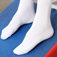White non-binding socks
