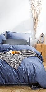denim blue duvet cover