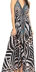 cold shoulder v neck high low summer silky short sleeve floral print casual adjustable loose color
