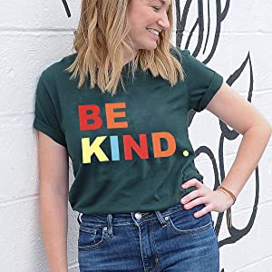 Be Kind T-shirt for Women Green