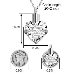 constantlife Brushed Cube Birthstone Memorial Pendant Charm Chain Necklace with Filling Kits and Box