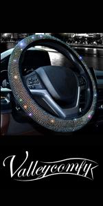 steering wheel cover for women bling diamond crystal rhinestone sparkle glitter black colorful