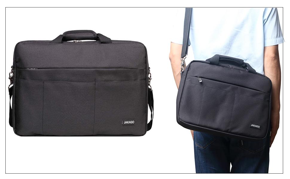 BOSTANTEN 17 inch Laptop Bag Case Expandable Briefcases for men Hybrid Computer Water Resisatant Business Messenger Shoulder Bag