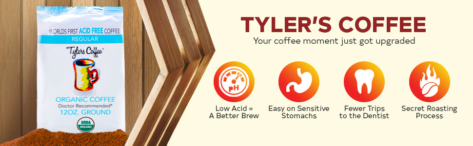Tylers Acid-Free Coffee Decaf Whole Bean low acid coffee organic coffee low acid