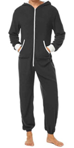 SKYLINEWEARS Men's Onesie Fashion Playsuit Unisex Jumpsuit