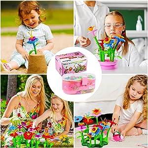 flower garden building toys toddler girl educational -toys-3-years activity stem motor skills