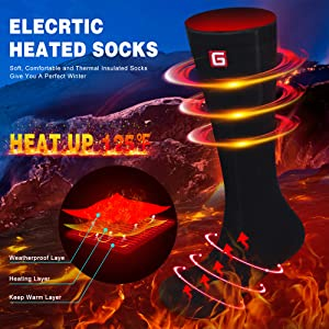 christmas gift present thick warm winter socks for men women sox for outdoor sports electric socks