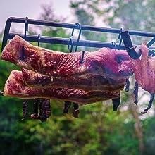 吊るし肉 ハンギング 焚き火