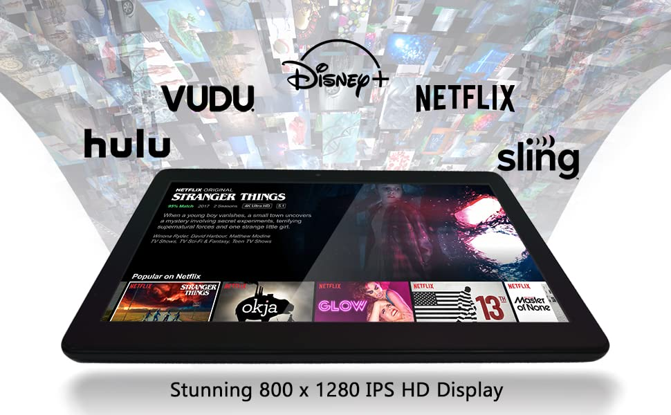 Srean all of the latest movies and show with your favorite streaming services all on an HD display