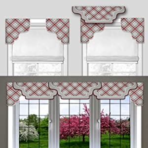 Amazon Com Diy Cornice Valance Kit No Sewing 3 Styles In One All Window Sizes Including Bay Windows Reusable Pattern Sew Room Decor Bedroom Living Dining Kitchen Curtain