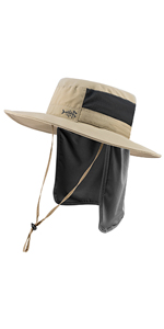 UPF50+ Water Resistant Fishing Bucket Hat with Detachable Neck Flap