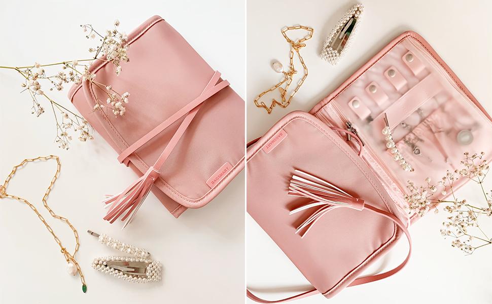 jewelry roll pink