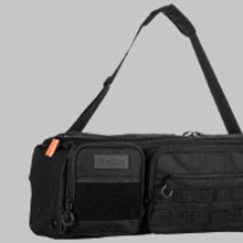 Customizable with velcro patch area and molle pouch. Plus adjustable shoulder strap