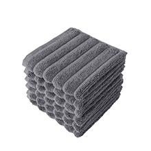 6 Piece Set White Washcloths