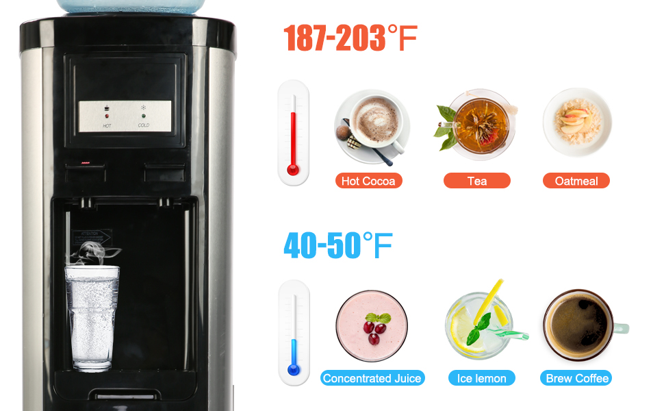 Hot/Cold Water Cooler Dispenser