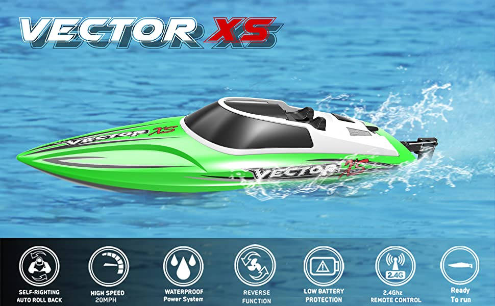 High Speed Pool Racing Remote Control Boat Vector XS for kids, adults or racing boat beginners.