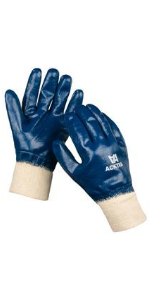 WG005 safety work gloves cotton nitrile fully coated