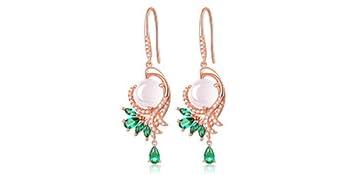 Fine jewelry for women natural rose quartz gemstone pendant necklace