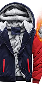 Men's Full zip Up Hoodie Heavyweight Winter Sweatshirt