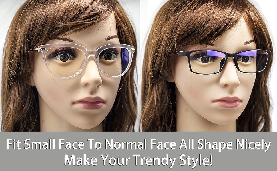 anti blue light blocking glasses computer women pink frame screen blocker small face filter uv teens