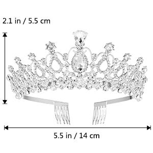 Bridal Tiara Crystal Rhinestones6