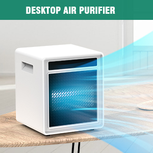 Home UV Air Sanitizer Purifier for Room Bedroom Kitchen Office,remove 99% of Viruses Flu Bateria