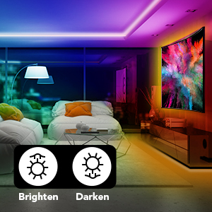 CONTROL THE BRIGHTNESS TO BRIGHTEN OR DIM BY THE 44 KEY REMOTE CONTROLLER/ BRING YOU HAPPY MOOD