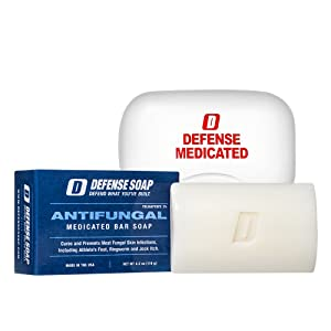 Defense Soap Natural Ingredients Eucalyptus Tea Tree Shower Bath Oils Antifungal Medicated Wrestling