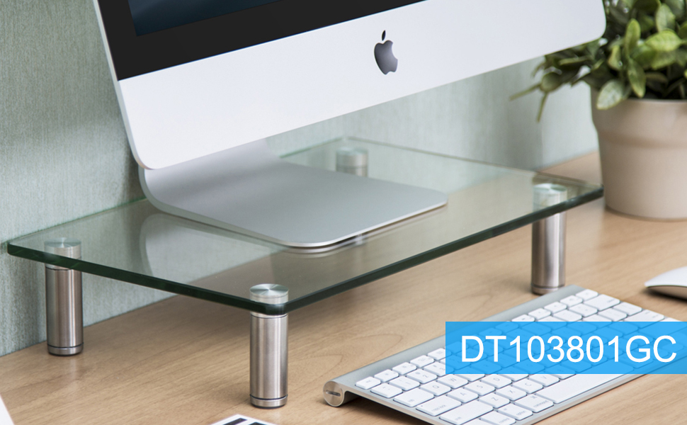 Computer Monitor Riser Stand for Home Office Desk Organizer