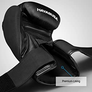 Black T3 Boxing Glove Lining