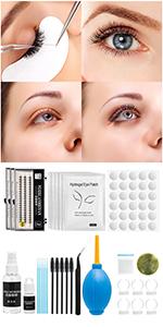 12PCS False Eyelash Extension Kit